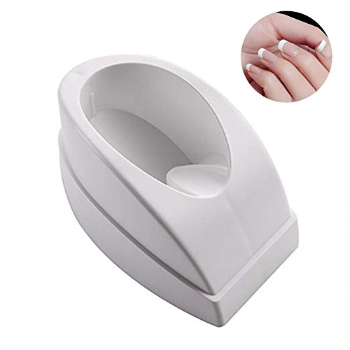 MAKARTT Dipping Powder Container French Manicure Molding with Finger Guide Easy Smile Line-White