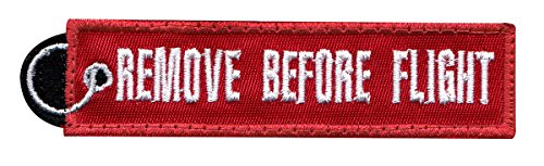 Flight Tags (Remove Before Flight Pull Tag Tactical Morale Hook+Loop Patch)