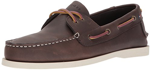 Tommy Hilfiger Men's Bowman Boat shoe,Coffe Bean,10 M US