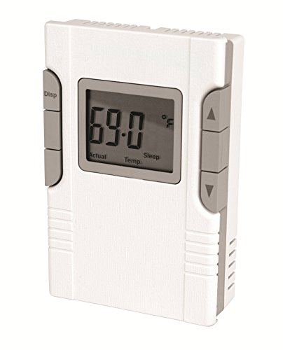King Electric HP30 7 Day Programmable Line Voltage 16 Amp Hydronic 2 Circuit Thermostat, White (Thermostat Hydronic)