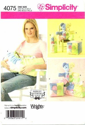 Simplicity 4075 Sewing Pattern Shirley Botsford Baby Accessories Carrier Blocks Bottle (Baby Accessories Pattern)
