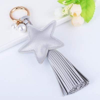 Amazon.com: Rarido Fashion Charm Star Leather Keychain ...