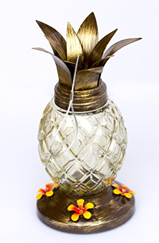 Best Hummingbirds Feeder in Cool Pineapple Design With 4 Nectar Feeders in Unique & Fun Pineapple Design - Great Gift for Hummer Lovers! 100% Satisfaction Guarantee! (Newest - Stores Valley Mall View At