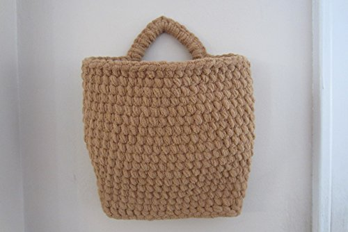 Hanging Basket Mail Holder, Crocheted Wall Baskets - Many Colors to Choose From!