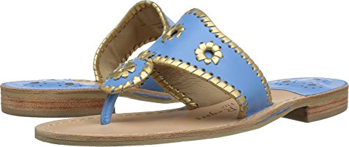 Jack Rogers Women's Hollis Flat Sandal French Blue/Gold for sale  Delivered anywhere in USA