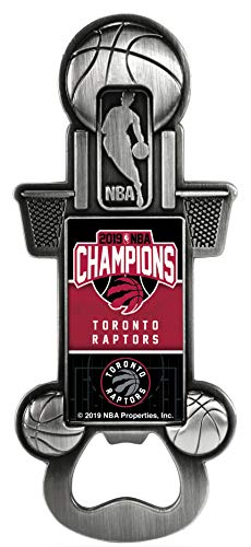 (Rico Industries, Inc. Toronto Raptors 2019 NBA Finals Champions Party Starter Magnetic Pewter Metal Magnet Bottle Opener)