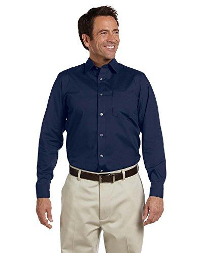 Ashworth 7004 Mens Dobby Blend Woven Shirt - Navy - S ()