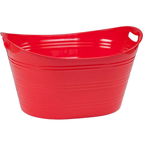 CreativeWare PTUB-FR Party Tub 8.5 Gl, Fire Red, 8.5 Gallon for $<!--$17.38-->