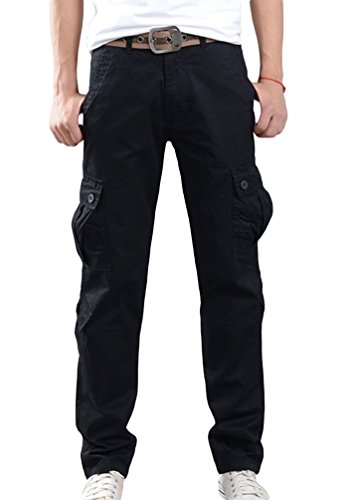 Pantaloni Sentao Cargo Con Slim Fit Workwear Tasconi Uomo Nero OqUcqBWFS