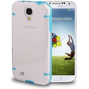 color 2 Series-Plastic Transparent (TPU Case Cover) Carcasa para Samsung Galaxy S4 i9500/(Baby Blue)