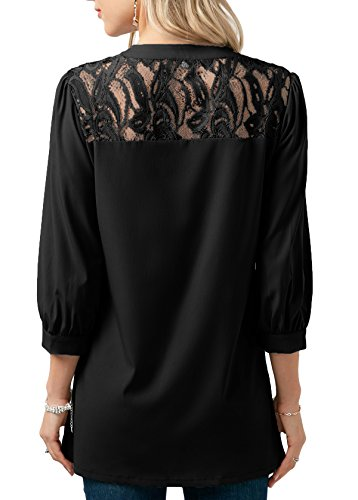 Baseball Plein Lace en Advocator Color Chemises Femmes Longues Block Manches Avant Up Shirt T Sport Noir O Casual Blouse Air Cou Tops xqBpvH