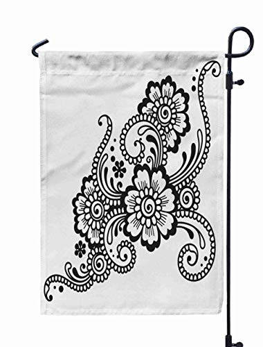 Shorping Garden Flag Stand, 12X18Inch Welcome Garden Flag Henna Ornament for Holiday and Seasonal Double-Sided Printing Yards Flags,Turquoise Green