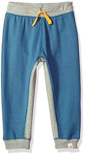 Burt's Bees Baby Little Kids Organic Knit Jogger Pants, Blue Star French Terry, 5