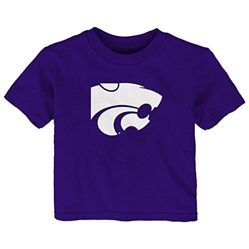 Gen 2 NCAA Kansas State Wildcats Infant Primary Logo Short Sleeve Tee, 24 Months, Regal Purple (Kansas Jersey State)