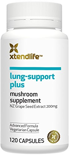 Xtend-Life Lung-Support Plus Supplement. Organic Lung Supplement with Reishi Mushrooms and Grape Seed Extract. (120 vege capsules).