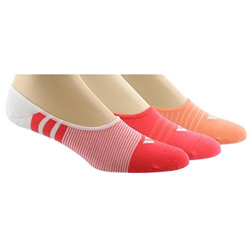 adidas Women's Superlite Super No Show Socks , White/Sun Glo