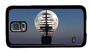 Hipster grove Samsung Galaxy S5 Cases sailboat moon PC Black for Samsung S5