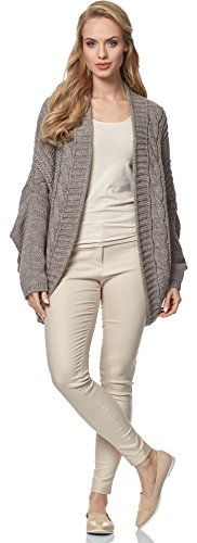 Merry Style Cardigan para mujer MSSE0024 Moca
