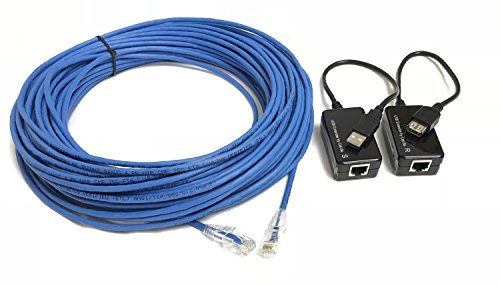 Slimline Cable Kit - 75 Foot USB 1.1 A/A Extension Kit Over Plenum Cat5e sold by Custom Cable Connection