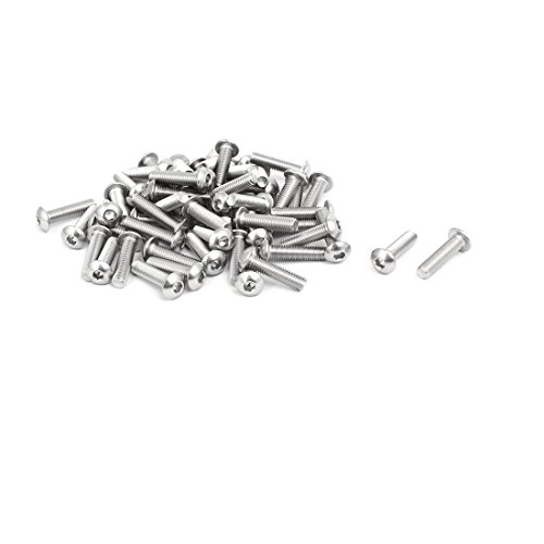 uxcell M5x20mm 304 Stainless Steel Button Head Hex Socket Cap Screws Bolts 55pcs by uxcell