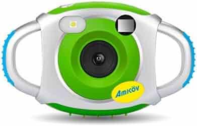 Digital Camera for Kids, AMKOV Kids Camera, 1.44 Inch Full-Color TFT Display Kid Video Camera, Green (kids camera)