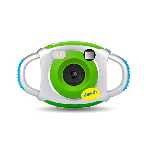 Digital Camera for Kids, AMKOV Kids Camera, 1.44 Inch Full-Color TFT Display Kid Video Camera, Green (kids camera)
