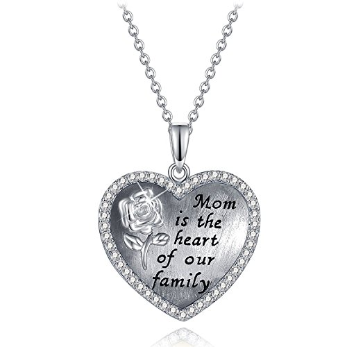 Mother Birthstone Pendant Mom necklace gift for mother love heart crystal birthstone necklaces mom necklace gift for mother love heart crystal birthstone audiocablefo
