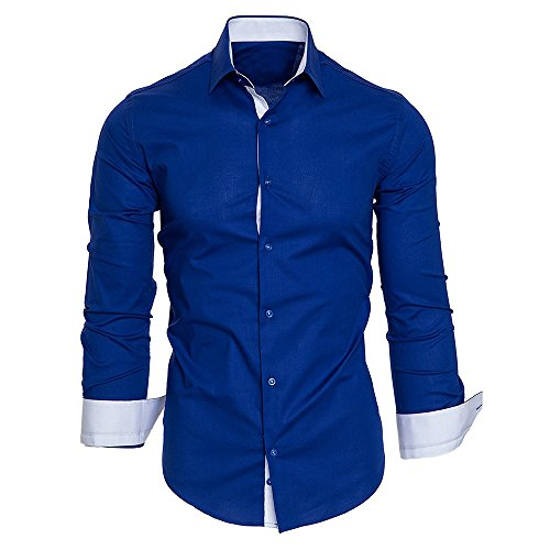 - Baiggooswt Men Shirts Men's Autumn Casual Formal Solid Slim Fit Long Sleeve Dress Top Blouse