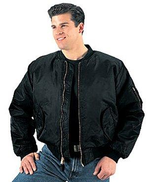 Amazon.com: Ultra Force MA-1 Black Flight Jacket Military Punk ...