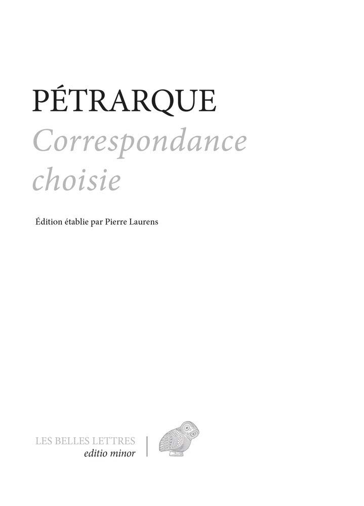Correspondance Choisie (Editio Minor)