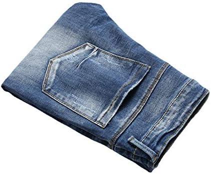 41uvvwYW0mL. AC AITITIA Men's Biker Zipper Deco Washed Straight Fit Jeans    Product Description