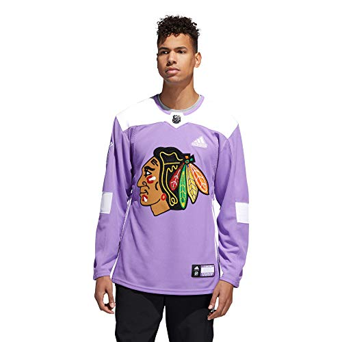 adidas Chicago Blackhawks Hockey Fights Cancer Authentic Pro