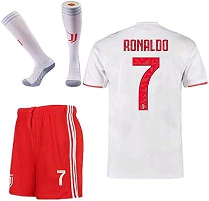 Juve Js 3pcs Juventus 7 Cristiano Ronaldo Away Soccer Shirt