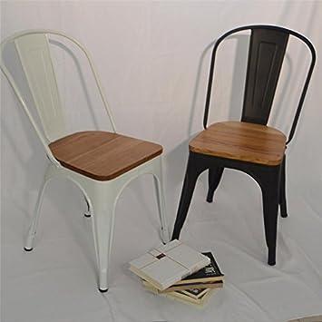 4 juegos de sillas Tolix de metal apilables para uso en interiores y ...