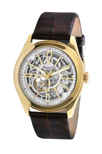 Kenneth Cole New York Men's KC1905 Auto Yellow Gold Bezel Round Automatic Watch