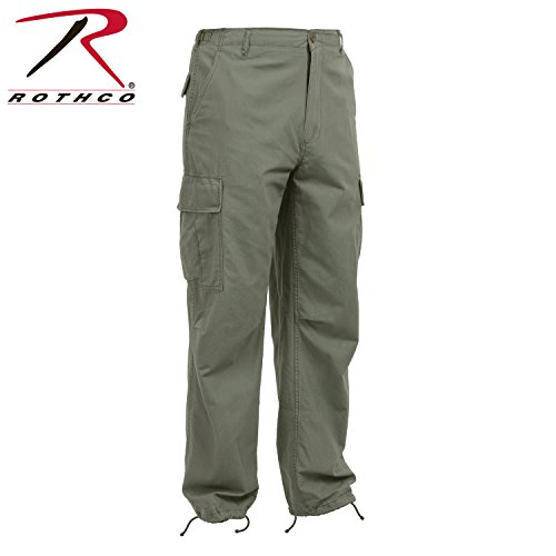- Rothco Vintage R/S Vietnam Fatigue Pants, Olive Drab, Large