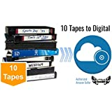 10 Pack - Video Tape Transfer and Digitization to MP4 Service (VHS, Hi8, MiniDV, Digital8, VHS-C, U-Matic, Beta, Audio) by Lotus Media