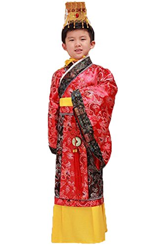 Bysun Boy Han Dynasty imperial Chinese costumes Red120
