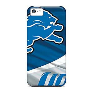 Ultra Slim Fit Hard TianMao Case Cover Specially Made For Iphone 5c- Detroit Lions