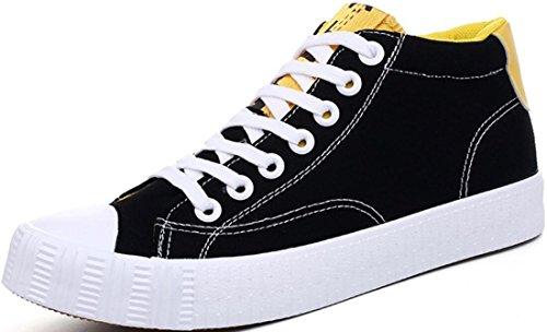 Satuki Canvas Schoenen Voor Heren, Fashion Sneakers, Casual Platte Lage Top Klassieke Veterschoenen Zachte Atletische Lichtgewicht Sportschoenen Zwart
