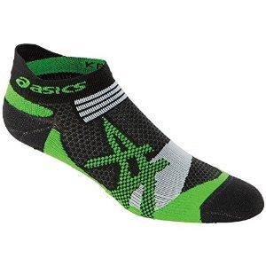 ASICS Kayano Single Tab Sock, Small, Black/Green (Dri Fit Performance Tab)