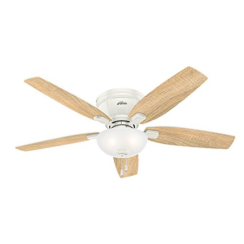 Hunter 53378 Kenbridge 52'' Ceiling Fan with Light, Large, Fresh White by Hunter Fan Company (Image #3)