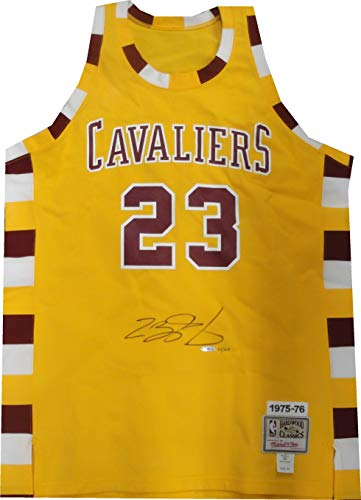 LeBron James Signed Autographed Throwback Jersey Cleveland Cavaleirs UDA -
