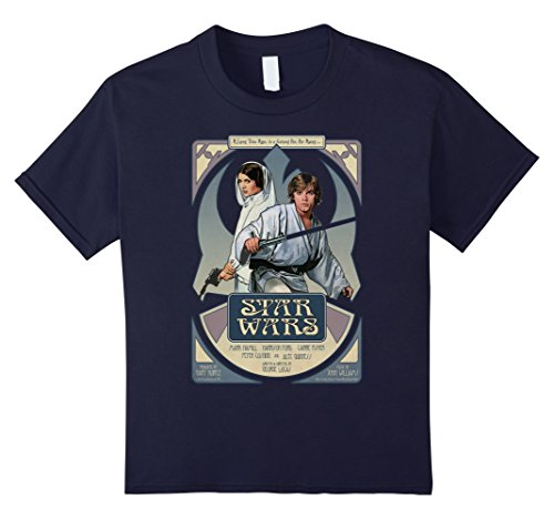 Kids Star Wars Luke Skywalker Princess Leia Performance T-Shirt 8 Navy