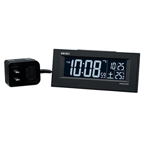 세이코 clock 자명종 전파 교류식 디지탈 검정 DL209K SEIKO