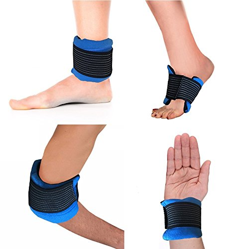 Hot / Cold Therapy #1 MULTI-USE Wrap For All Body Parts Including Ankle, Wrist, Foot, Elbow, Neck, Head, Knee, and More! CE CERTIFIED & FDA APPROVED. Relieve Soreness + Decrease (Heated Elbow Wrap)
