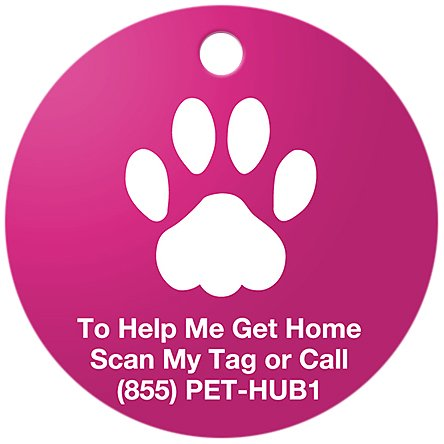PetHub Basic QR ID Tag, Small, Pink, My Pet Supplies