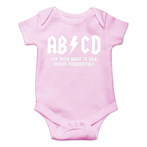 piece Dc Pink Bodysuit Rock Romper And Baby Funny Abcd Infant Toddler Ac Cute Novelty Music One Roll awqRTOH
