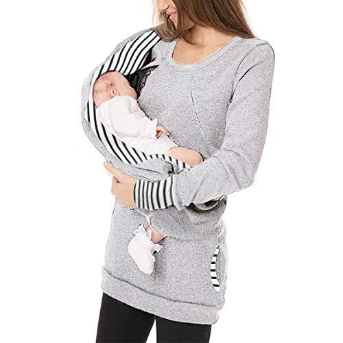 STRIR Lactancia premamá Enfermeria Manga Larga Sudadera Jumper Tops,Camisetas Maternidad Mujeres De EnfermeríA Mangas