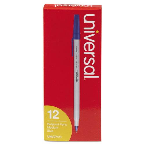 - Universal Economy Ballpoint Stick Oil-Based Pen, Blue Ink, Medium, Dozen